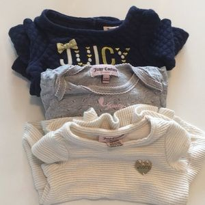 Bundle of 3 juicy couture set. Size 3-6 months